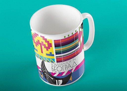 Love & Enjoy in Beograd coffee mug