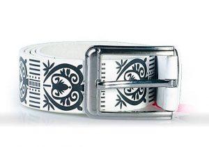 Kerefeke White Belt with Ornaments