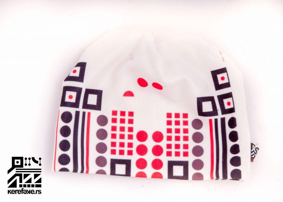 Black and white winter hat Kapa 3839