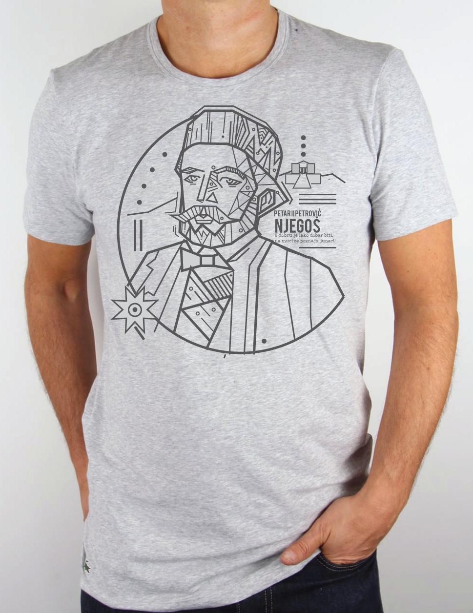 Pamučna majica Njegoš Kerefeke za muškarce
