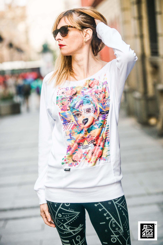 Beli ženski duks Roze prase